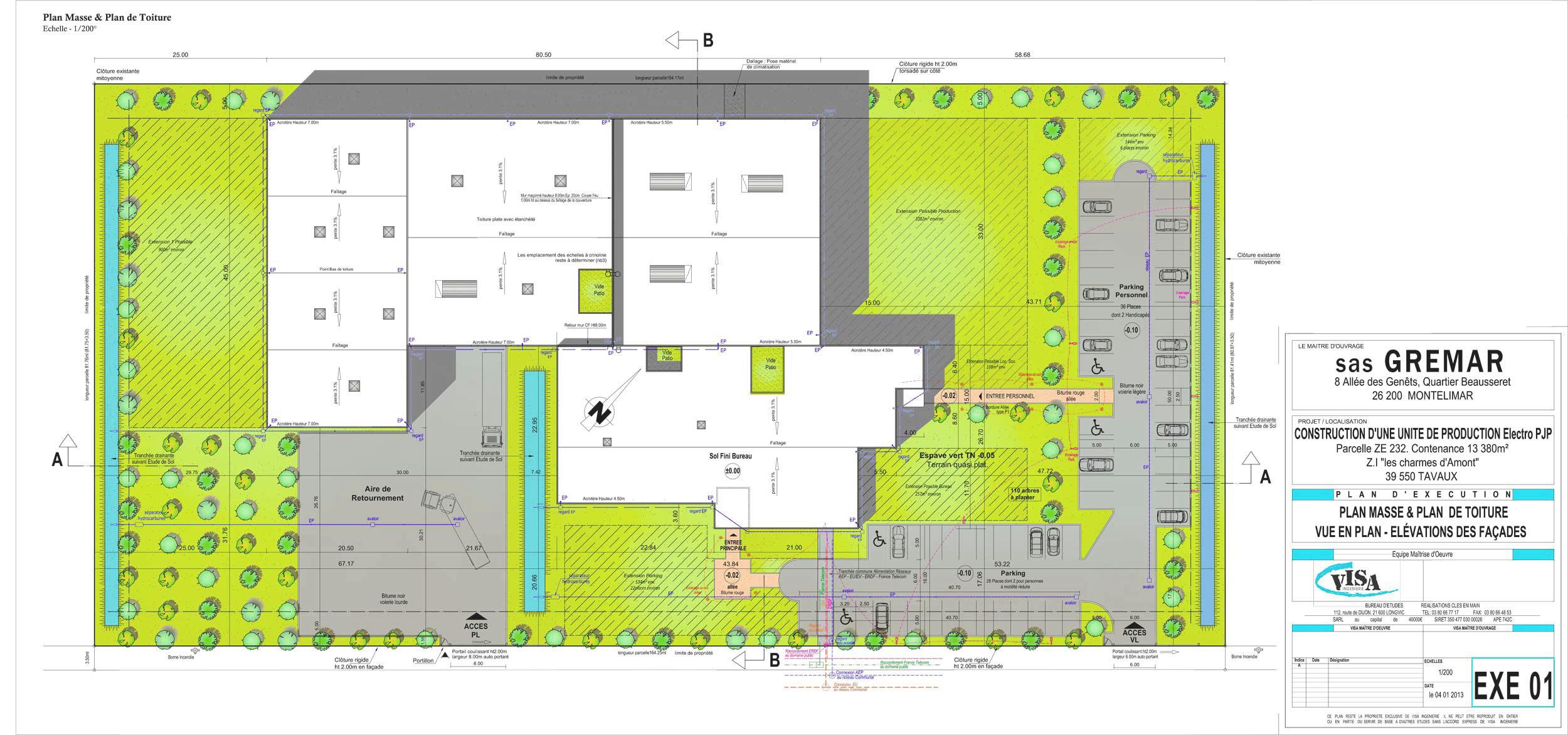 B timent industriel studio olivier m for Plan de batiment industriel