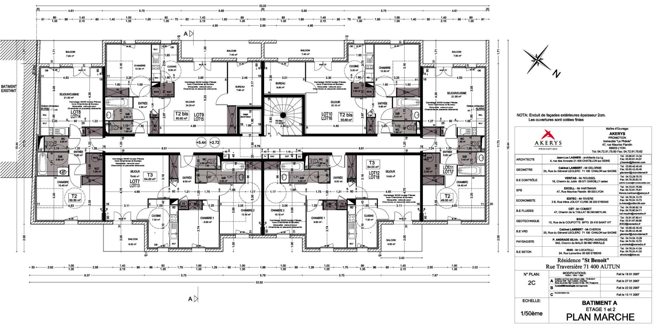 Plan-Marché-PMR BAT-A.-Etage1-&-2